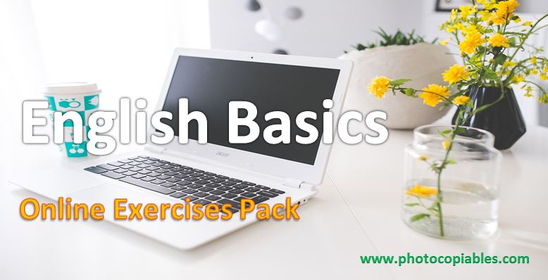 English Basics online exercises pack