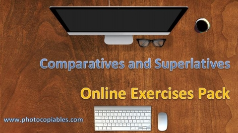 Comparatives and Superlatives Online Exercises Pack