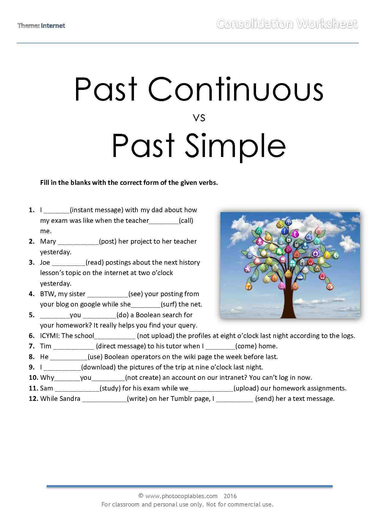 Past Continuous Vs Past Simple Consolidation Online Quiz Photocopiables