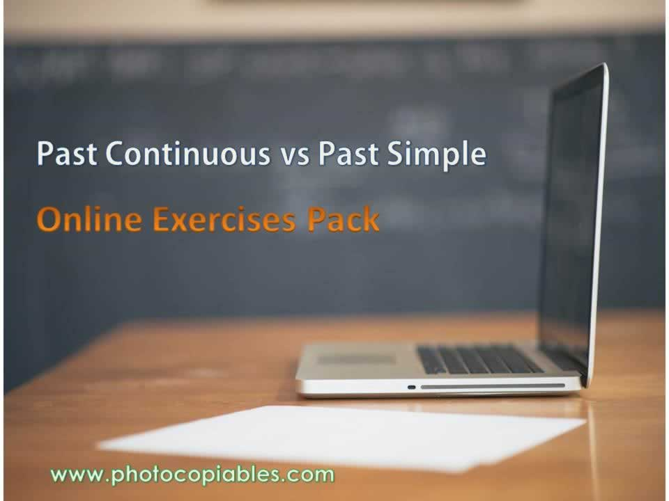past simple vs past continuous resources pack cover