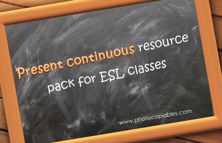 Present Continuous Resources Pack