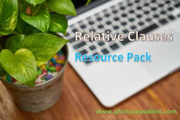 Relative Clauses Resources Pack