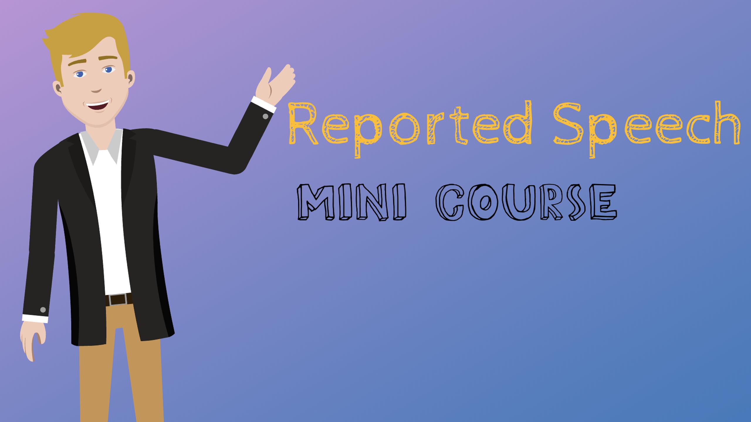 Reported speech mini course cover
