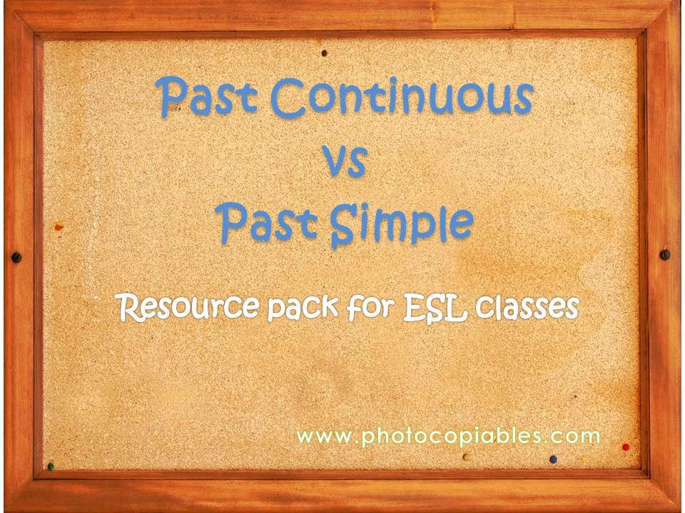 Past simple vs past continuous tenses resources pack cover