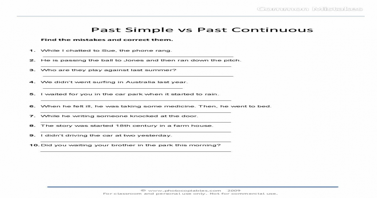 past simple vs past continuous_common-mistakes