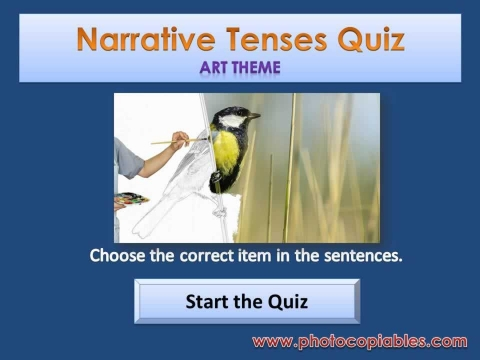 Narrative Tenses Interactive Exercise
