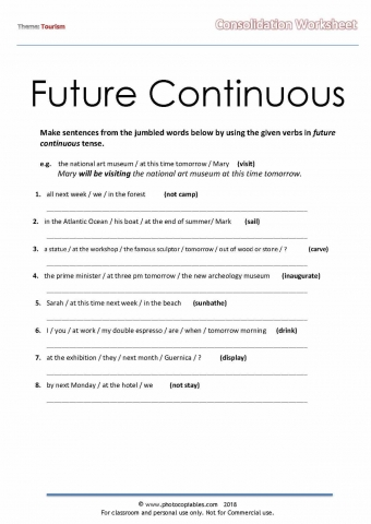 future-continuous_jumbled-sentences_consolidation worksheet-page-1