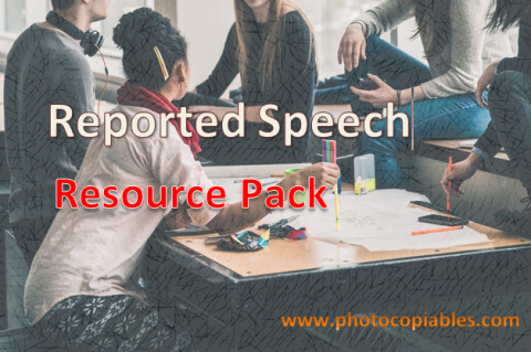 Reported Speech Resources Pack