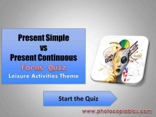 Present Simple vs Present Continuous forms interactive exercise