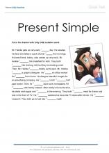 present simple cloze test