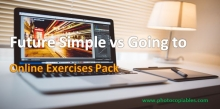 will vs going to online exercises pack